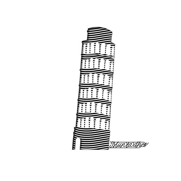 برج بيزا بفن الخط, 2019 - Muntadher Saleh