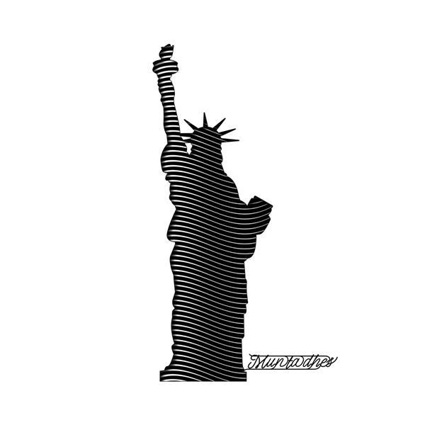 تمثال الحرية بفن الخط, 2020 - Muntadher Saleh