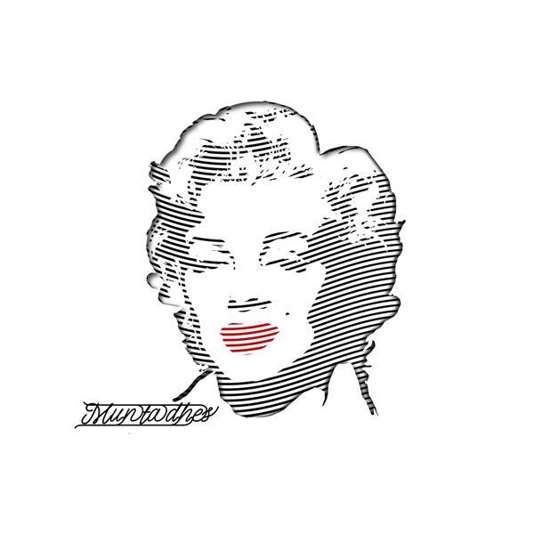 Marilyn Monroe Artwork in line art, 2020 - Muntadher Saleh