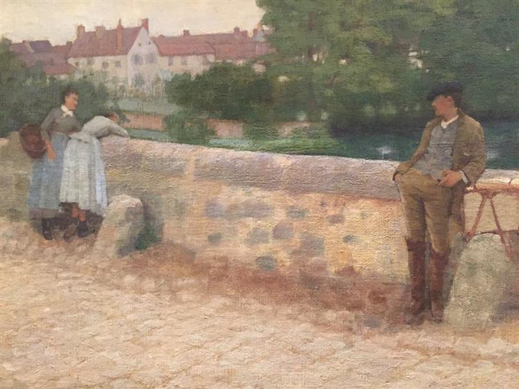 On the Bridge in Grez, 1884 - Frank O'Meara