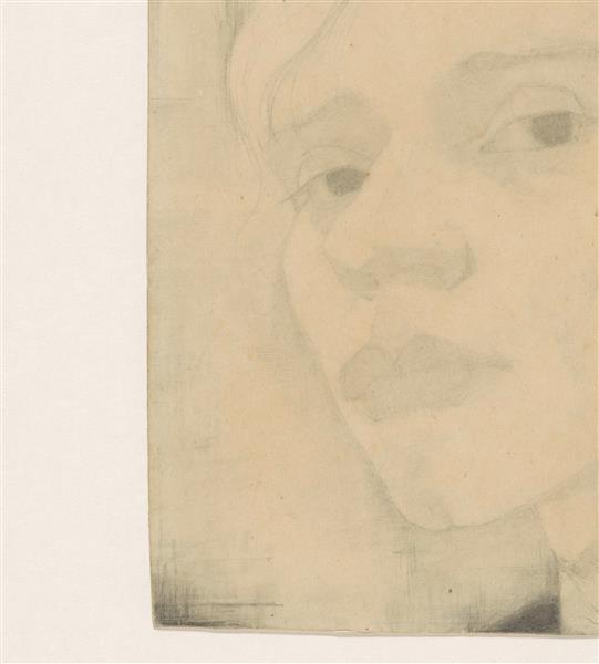 Self-portrait, three-quarters to the left, 1910 - Jan Mankes
