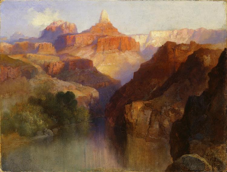 Zoroaster Peak (Grand Canyon, Arizona), 1918 - Thomas Moran