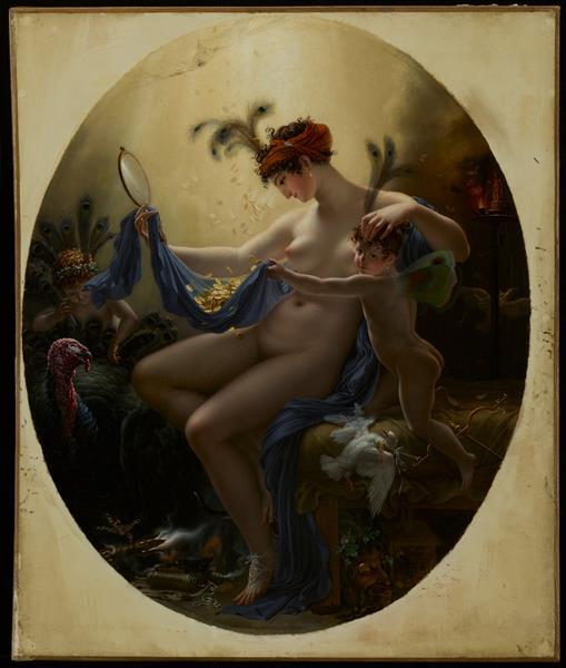 Portrait of Mlle Lange as Danae, 1799 - Анн-Луї Жироде-Тріозон