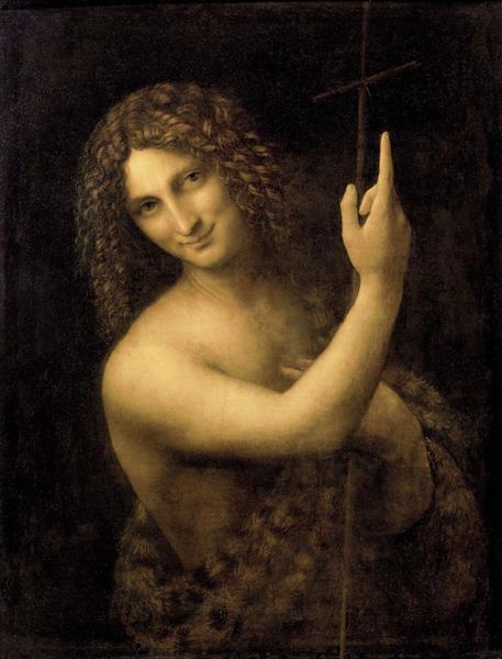 San Juan Bautista, c.1515 - Leonardo da Vinci - WikiArt.org