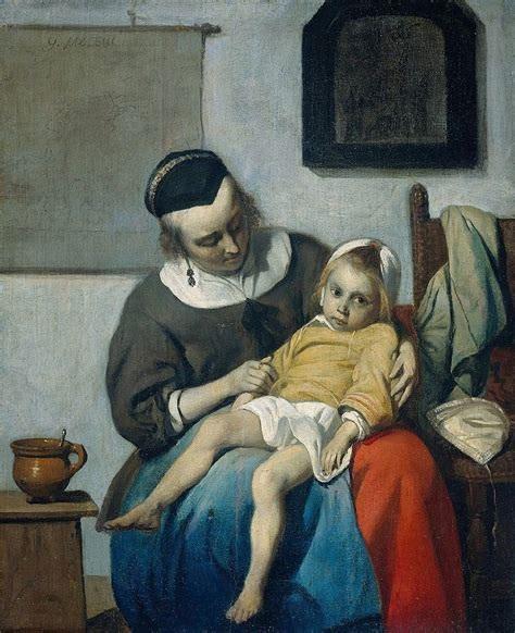 La niña enferma, c.1660 - Gabriël Metsu
