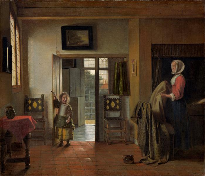 The Bedroom, c.1659 - Pieter de Hooch