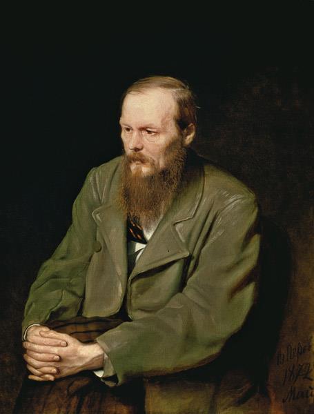 Portrait of the Author Feodor Dostoyevsky, 1872 - Vasily Perov