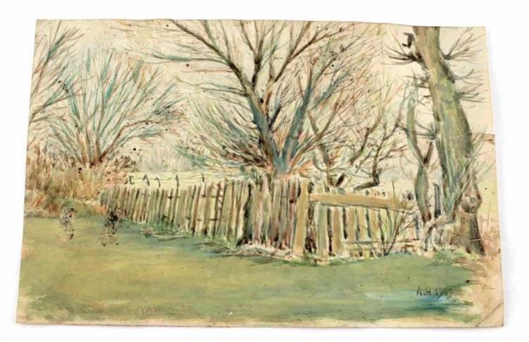 The Fence, 1909 - Адольф Гітлер