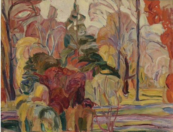 Fall Scene - Abraham Manievich