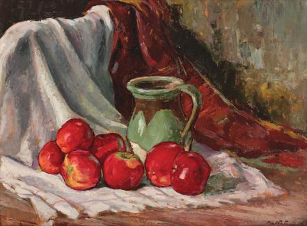 Still Life With Apples and Pipkin - Adam Baltatu