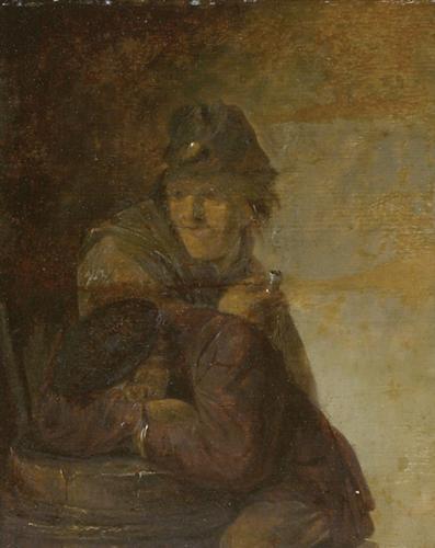 Two Peasants - Adriaen Brouwer