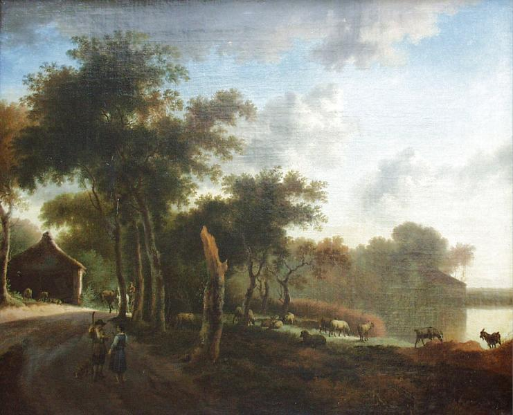 Landscape with shepherds, c.1660 - Adriaen van de Velde