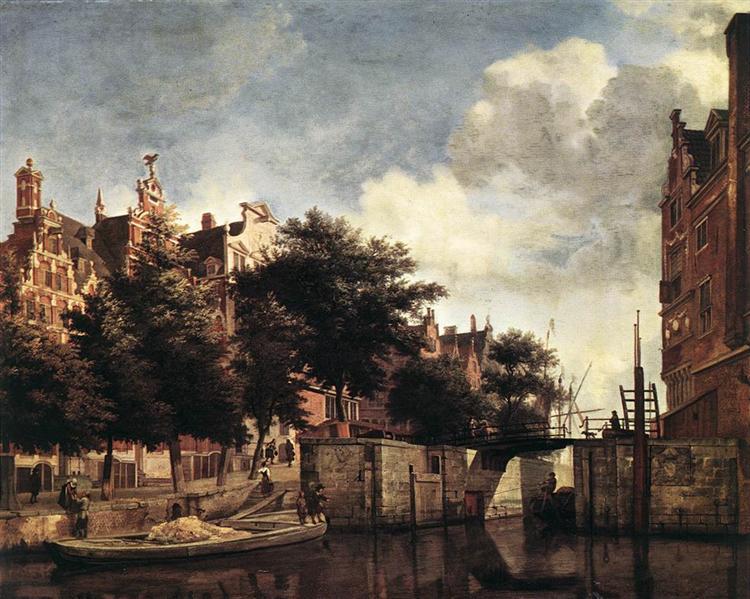 The Martelaarsgracht in Amsterdam, c.1670 - Adriaen van de Velde