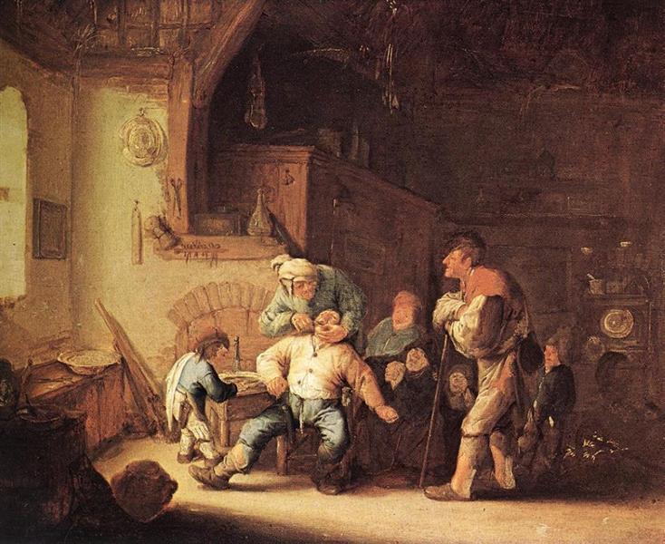Barber Extracting of Tooth, c.1637 - Adriaen van Ostade