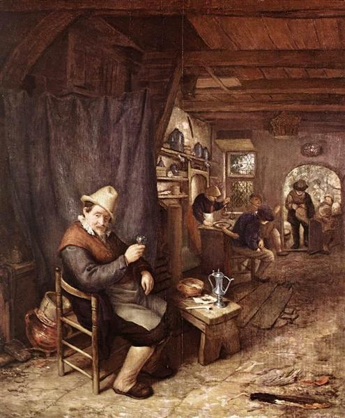 Drinking Peasant in an Inn, c.1665 - c.1670 - Adriaen van Ostade