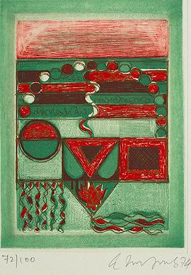 A Print from Saundarya Lahiri, 1974 - Akkitham Narayanan