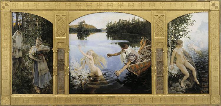 Aino Myth, Triptych - Akseli Gallen-Kallela