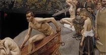 By the River of Tuonela, study for the Jusélius Mausoleum frescos - Akseli Gallen-Kallela