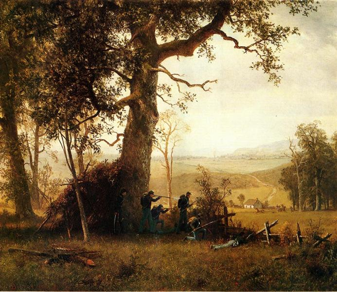 Guerrilla Warfare. Picket Duty in Virginia, 1862 - Albert Bierstadt