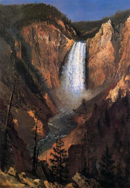 Lower Yellowstone Falls, 1881 - Альберт Бирштадт