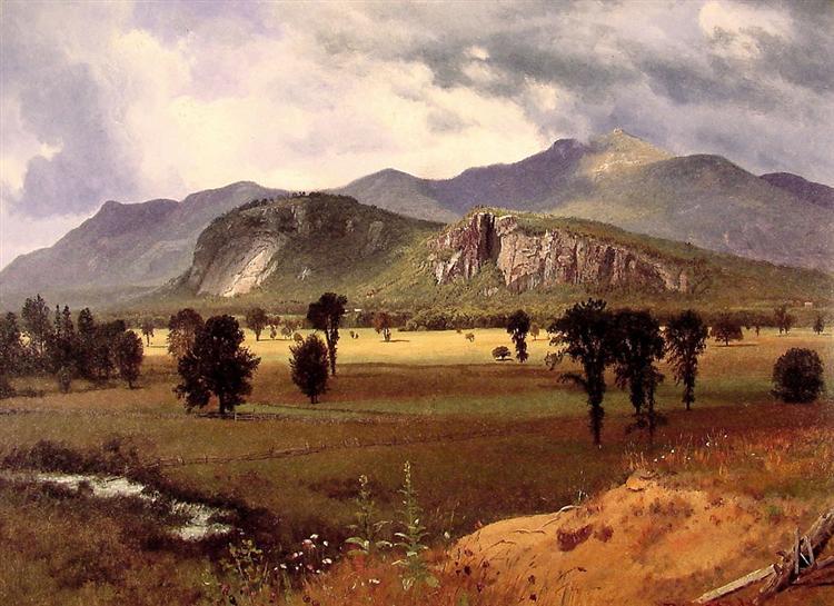 Moat Mountain Intervale, New Hampshire, c.1862 - Albert Bierstadt
