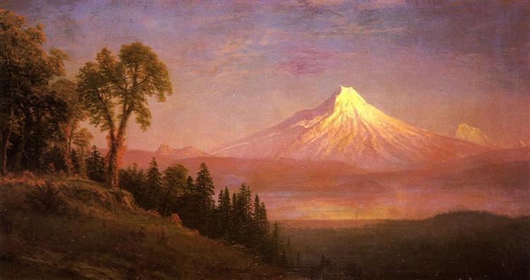 Mount St. Helens, Columbia River, Oregon - Albert Bierstadt