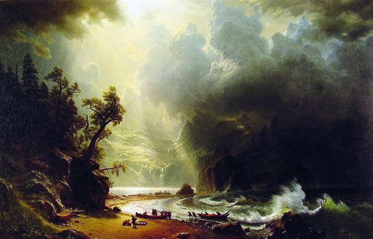 Puget Sound on the Pacific Coast, 1870 - Albert Bierstadt