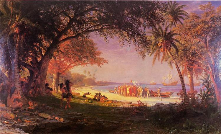 The Landing of Columbus, 1893 - Albert Bierstadt