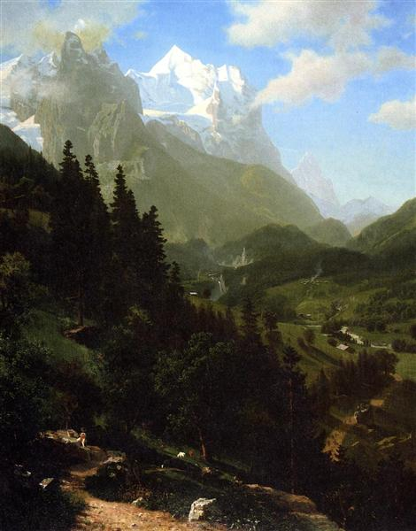 The Wetterhorn, 1857 - Albert Bierstadt
