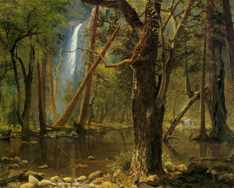 View in Yosemite Valley, 1871 - Albert Bierstadt