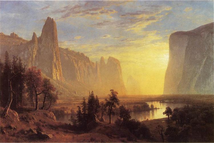 Yosemite Valley, Yellowstone Park, 1868 - Альберт Бірштадт