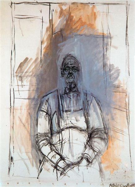 Portrait of woman - Alberto Giacometti