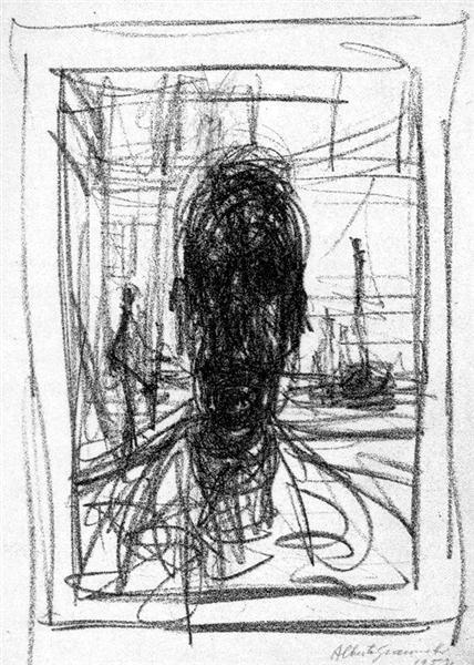 Portrait, 1951 - Альберто Джакометті