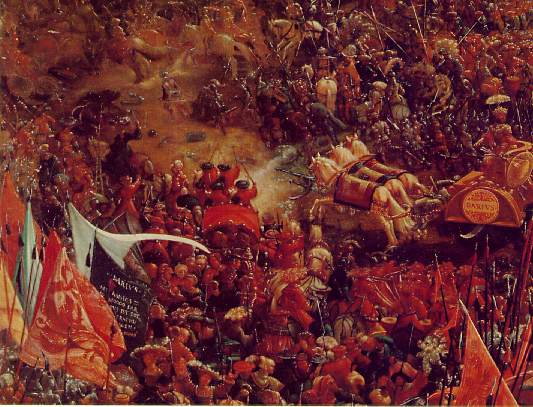 The battle of Issus(fragment), 1528-1529