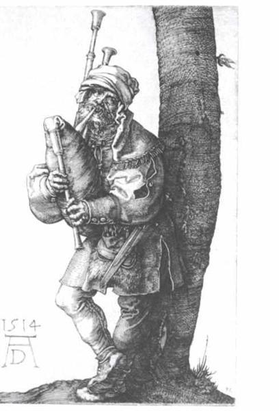 Bagpipes players, 1514 - Albrecht Dürer