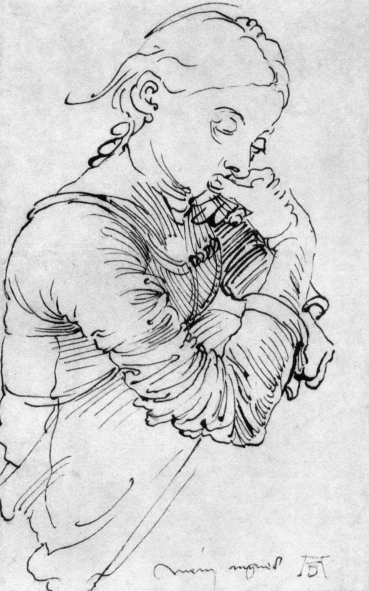 Contour Line Drawing Ink : My agnes albrecht durer wikiart encyclopedia of