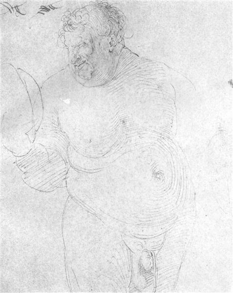 Naked man with mirror, c.1512 - Albrecht Durer