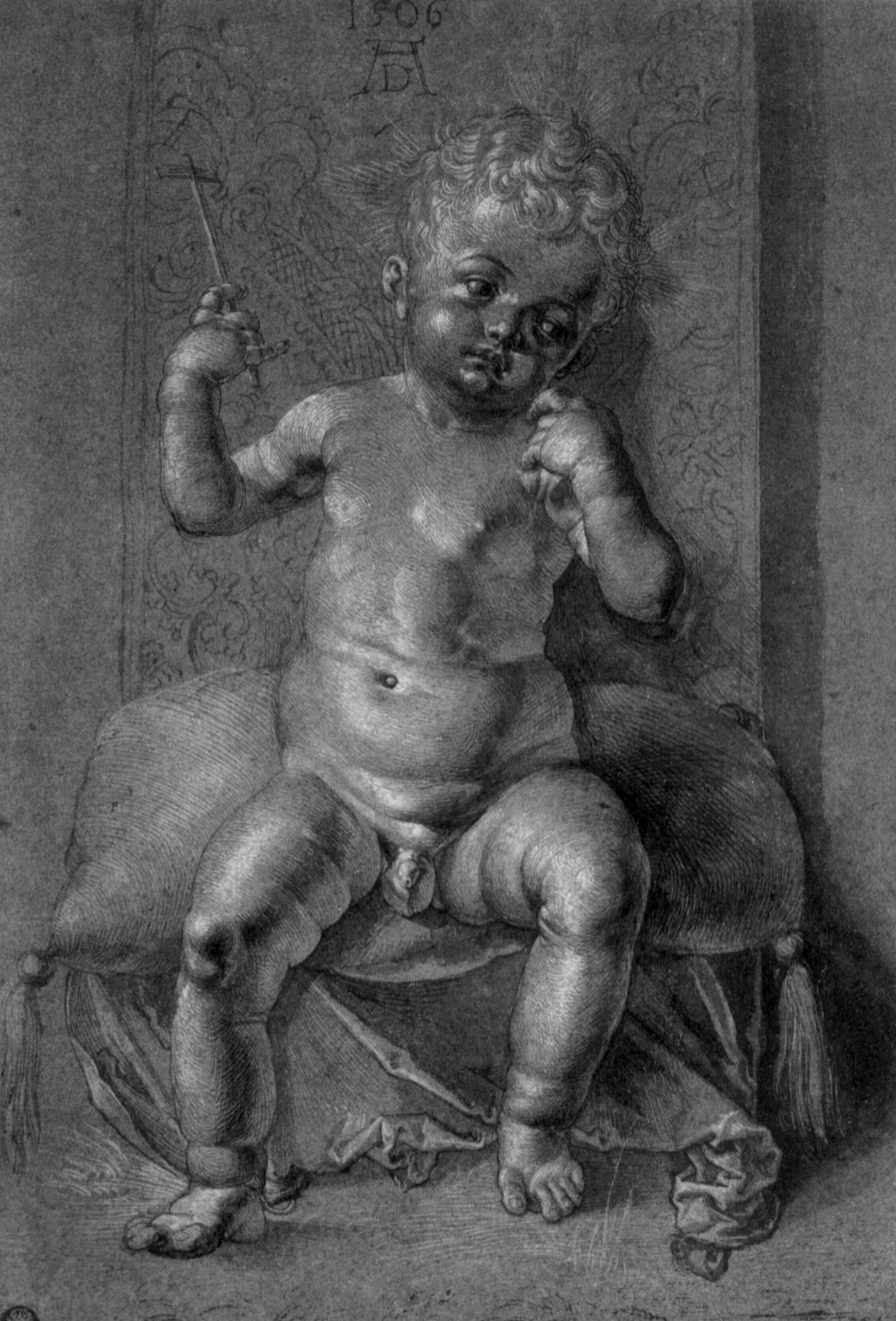 Seated Nude Child