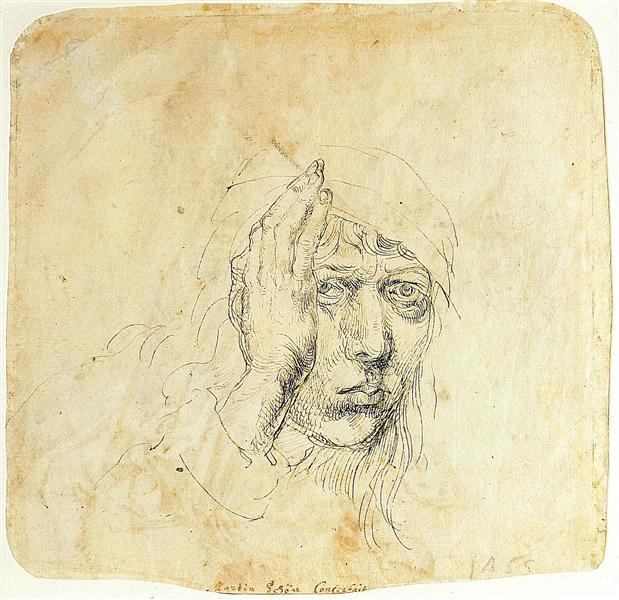 Self-Portrait with a wrap, 1491 - 1492 - Albrecht Durer