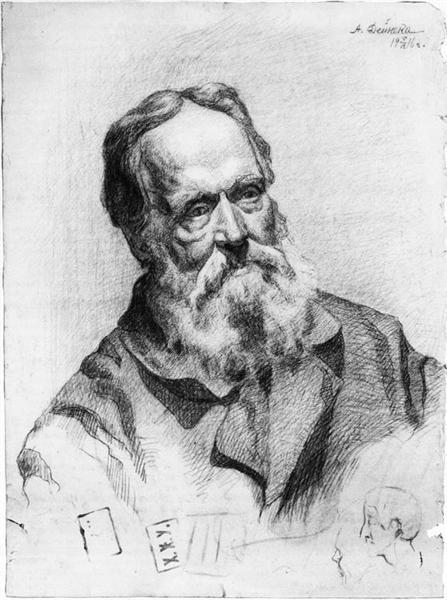 Portrait of an old man, 1916 - Aleksandr Deyneka