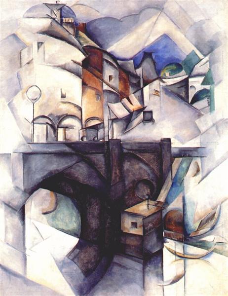 Bridge. Sevres, 1912 - Aleksandra Ekster