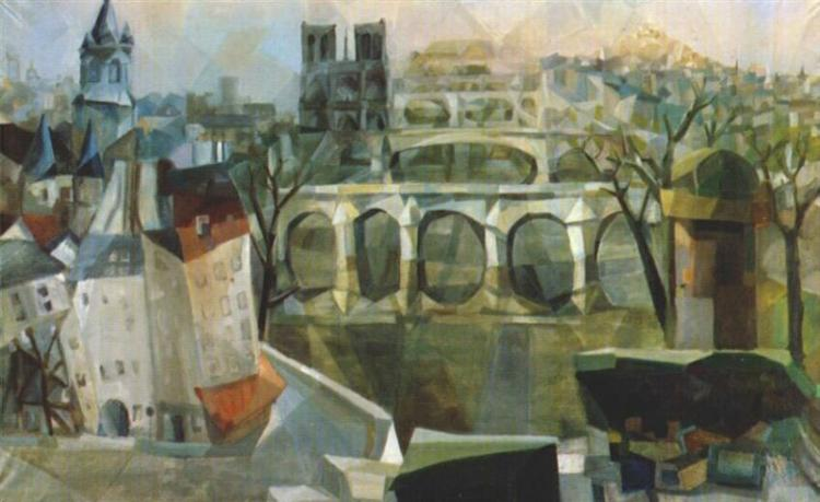 Visão de Paris, 1912 - Aleksandra Ekster