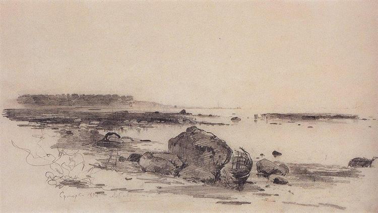 Beach, 1854 - Aleksey Savrasov