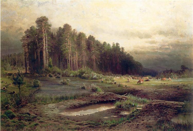 Elk Island in Sokolniki, 1869 - Aleksey Savrasov