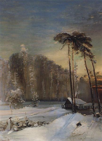Forest in the frost, c.1890 - Aleksey Savrasov