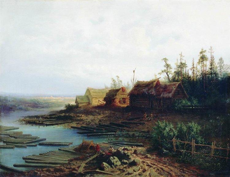 Rafts, 1868 - Олексій Саврасов