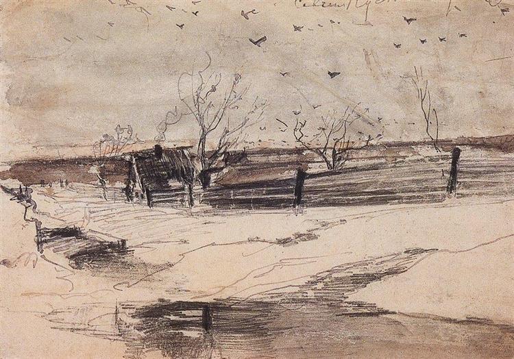 Savvinskaya Sloboda, 1880 - c.1890 - Aleksey Savrasov