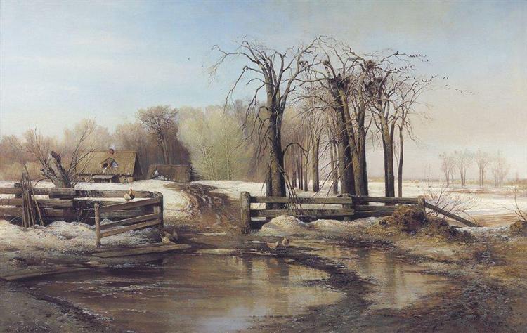 Spring Day, c.1873 - Aleksey Savrasov