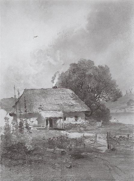 Ukrainian landscape, c.1860 - Aleksey Savrasov