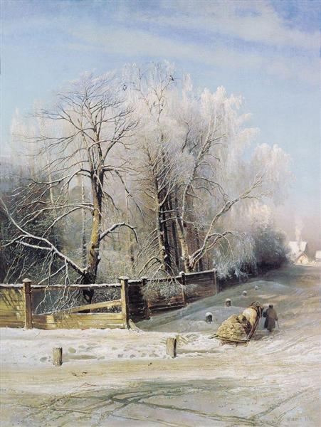 Winter landscape.Moscow, 1873 - Олексій Саврасов